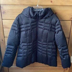 NWOT! Calvin Klein Black Down Blend Coat / Size 1X